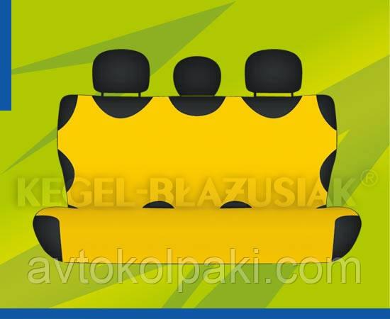 Автомобильные майки KEGEL задние жолтая Комплект - NikaAvto в Харькове
