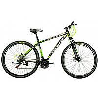 """Велосипед IMPULS TIME 29"""" Рама 19"""" черно-серо-салатовый"""