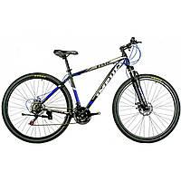 """Велосипед IMPULS TIME 29"""" Рама 19"""" черно-серо-синий"""
