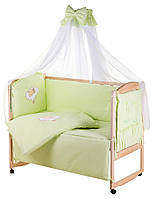 Детская постель Qvatro Gold AG-08 апликация салатовый (мишка спит на облаке), фото 1