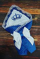 Плюшевый конверт на выписку, конверт-одеяло на выписку, детский плед