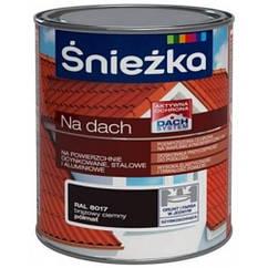 Фарба для даху Снєжка NA DACH   ЧОРНИЙ (напівмат)      RAL9005  0,75л   PL