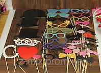 Фотобутафория 44 предмета ! Наборы усов и губ на палочке фото фотографии