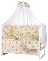 Детская постель Qvatro Gold RG-08 рисунок бежевый (мишки, звезды), фото 1
