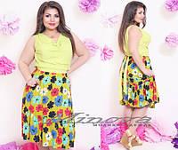 Летнее платье большого размера 50-56 разные цвета