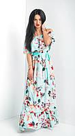Женское длинное платье в цвета. Размеры 44-46, 48-50, фото 1