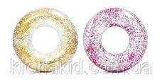 Надувний круг для плавання INTEX 56274 NP прозорий з блискітками, діаметр 119см, від 14-ти років (2 кольори), фото 2