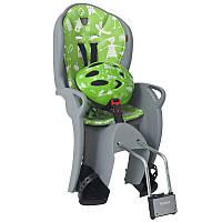 Детское велокресло HAMAX KISS + велошлем Green