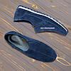 Туфли-мокасины замшевые мужские, цвет синий, фото 4