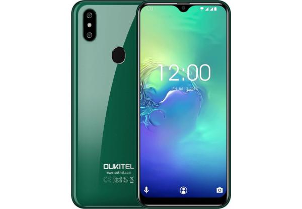 Смартфон Oukitel C15 Pro 2/16gb Green Mediatek MT6761 Helio A22 3200 мАч
