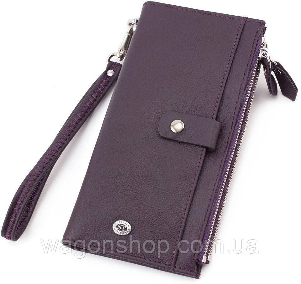 Кожаный женский кошелек с ремешком на руку ST Leather