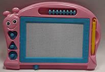 Доска детская магнитная, 27*19 см, панель 15*9 см, цвет ассорти, OOПT, 1919, 145976