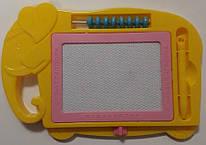 Доска детская магнитная, 24*16 см, панель 12*8 см, цвет ассорти, OOПT, 1920, 145983