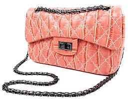 Женская сумка Персиковая через плечо, хорошего качества