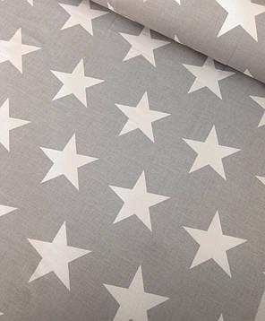 Постельное белье поплин DeLux Звездный серый ТМ Moonlight Полуторный, фото 2