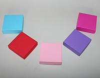 Коробка подарочная 80х80х30мм, цвет в ассортименте