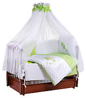 Детская постель Tuttolina Sweet Kitty (7 элементов) 30 салатовый-белый (котик с волшебной палочкой), фото 1