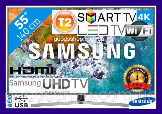 Телевизор Samsung Самсунг 55 дюймов 4K Ultra HD Smart TV UE55NU7400 Т2 WiFi USB LED Телевізор (140см) 2018 (A)