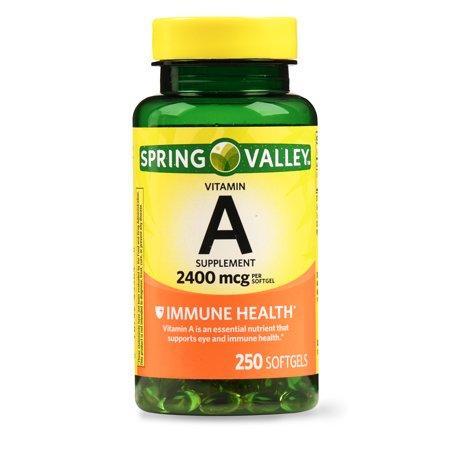Витамин А / Spring Valley - Vitamin A 8000 IU, 250 Softgels