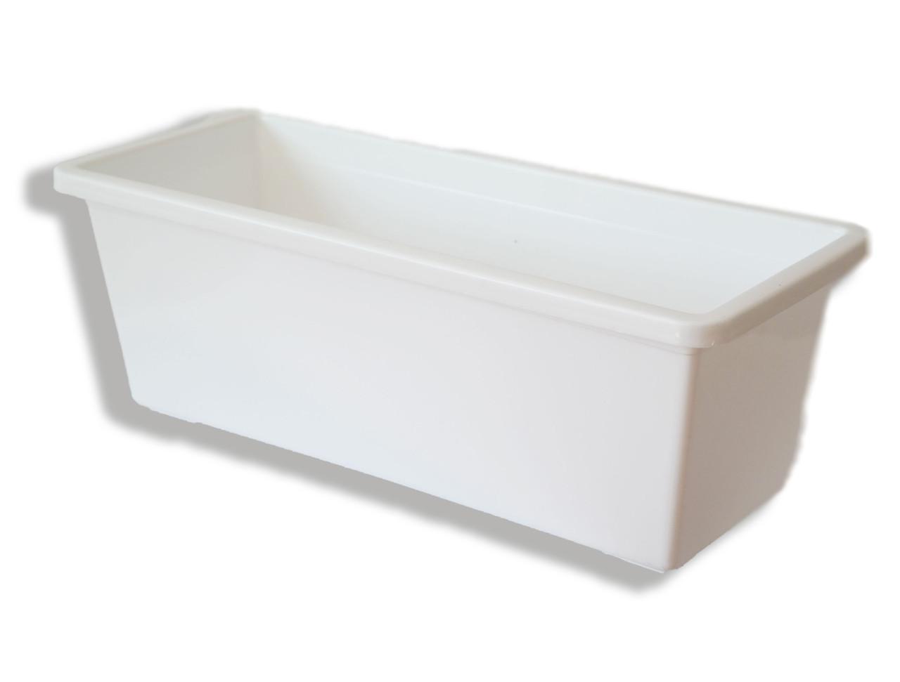Ящик балконний для квітів , 40 см, БІЛИЙ, ММ