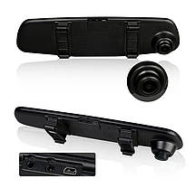 Видеорегистратор зеркало на 2 камеры Dvr Full HD, фото 2
