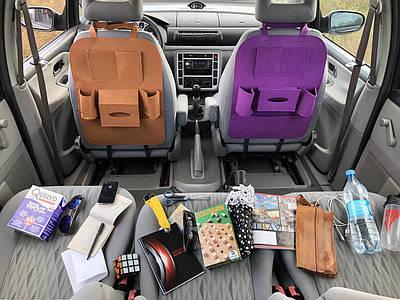 Автомобильный сумка-органайзер на спинку сиденья автомобиля Темно Розовый