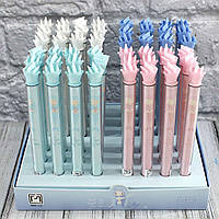 Ручка с силиконовым декором (масляная) РУСАЛКИ  085-3 (1403) (48 шт. в упаковке)