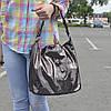 """Женская кожаная сумка с лазерным напылением   """"Лазерка Bright Brown"""""""