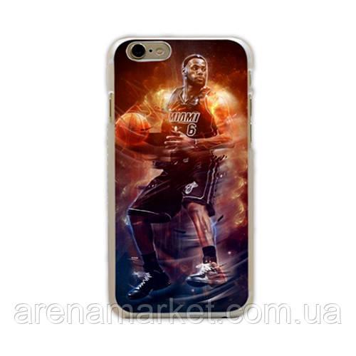 """Баскетбольний чохол накладка для iPhone 6 (4.7"""") Lebron James"""