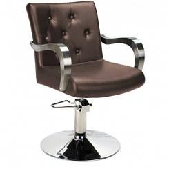 Парикмахерское кресло BM68498-710 Brown, коричневый жатый
