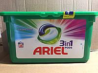 Капсулы  ARIEL PODS - для стирки цветного белья 3 в 1, 38 шт.