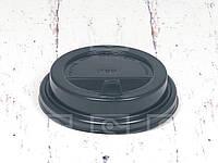 Крышка черная с питейником для стаканов 250 мл. d-80/ 500 шт.