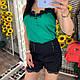 Жіночі коттонові шорти з мереживом і стразами, фото 6