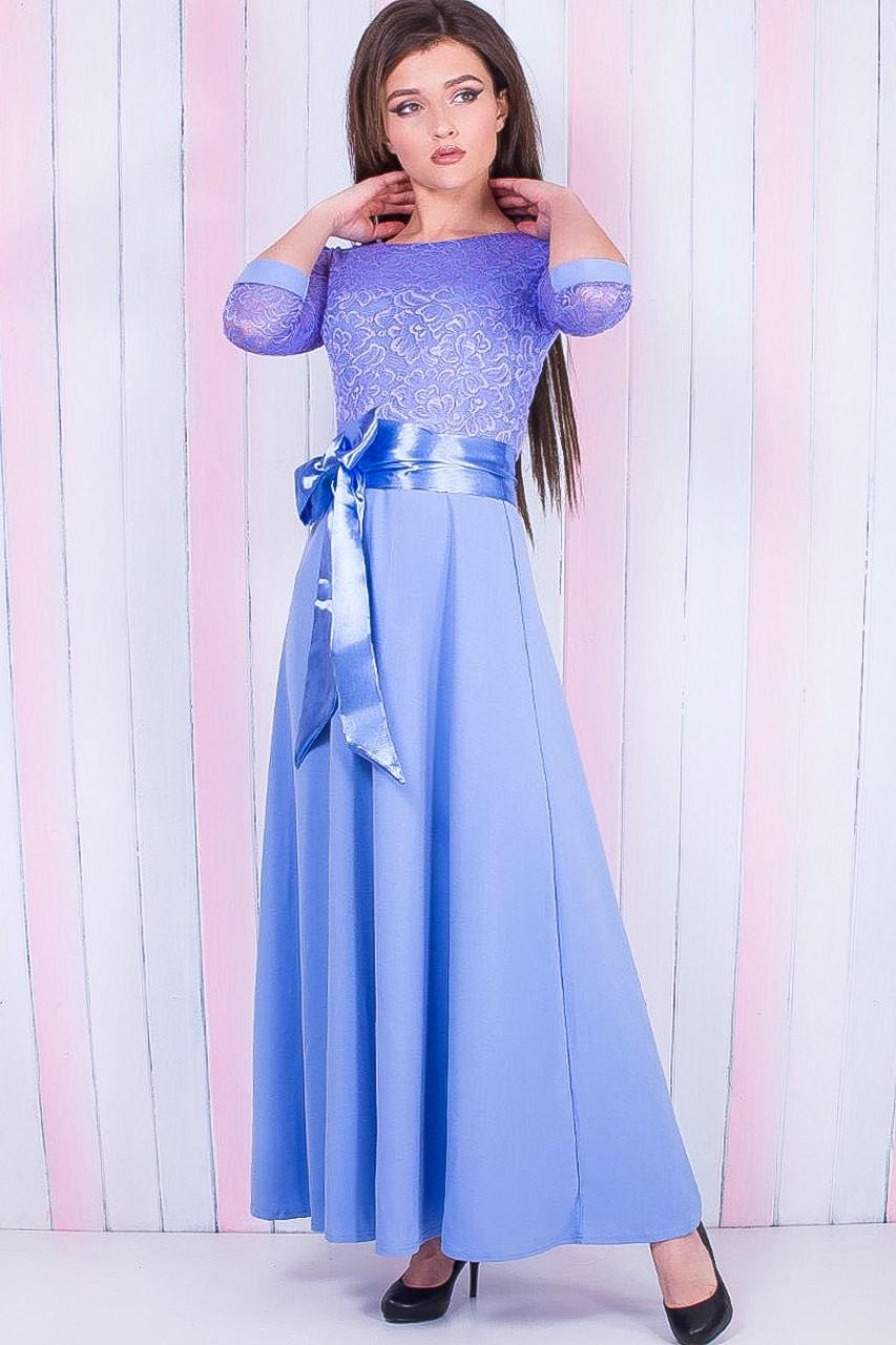 Нарядное платье макси (в расцветках) 42-48