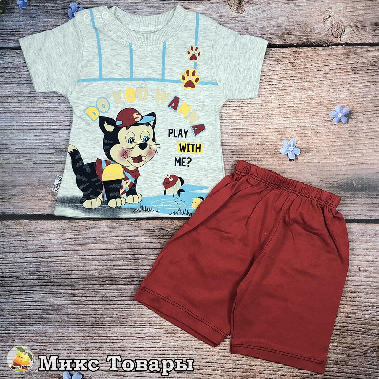 Летний костюмчик для малыша Размеры: 6,9,12,18 месяцев (8611)