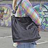 """Женская кожаная сумка с лазерным напылением   """"Лазерка Dark Brown"""""""