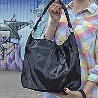 """Женская кожаная сумка с лазерным напылением   """"Лазерка Black"""", фото 1"""