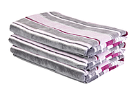 Полотенце пляжное велюровое (70х150 см) хлопок 100% в подарочной упаковке, фото 1