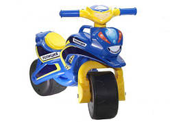 """Мотоцикл - Каталка - толокар для катания ребенка """"Полиция"""" (синий) музыкальный  sct"""