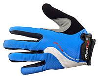 Перчатки велосипедные с силиконовой ладонью [Blue]