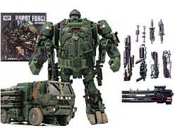 """Робот - Трансформер (превращается в военный грузовик) """"Armor Inspector""""  scf"""