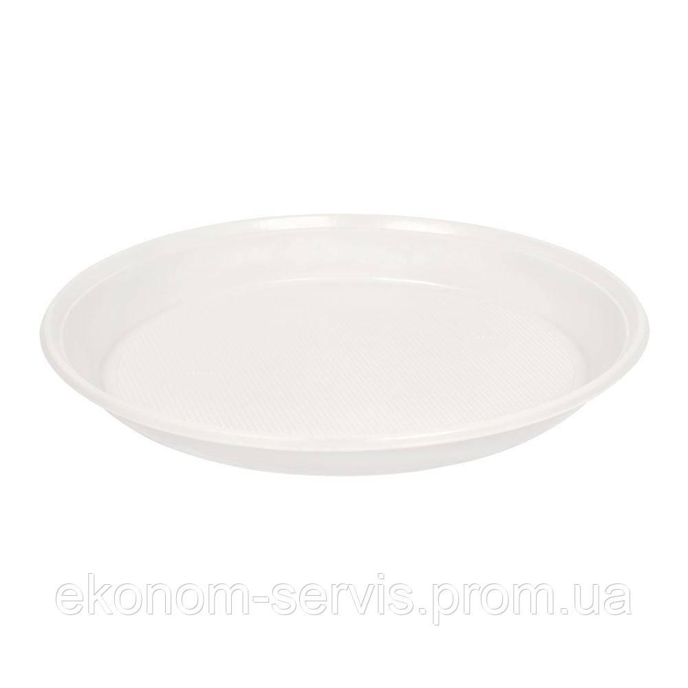 Тарілки одноразові d-210мм. 100шт, білі