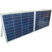 Солнечная электростанция раскладная переносная 100Вт 12Вольт с инвертором напряжения 12-220 Вольт 300Вт