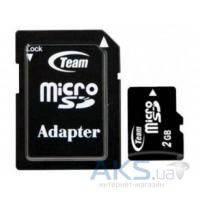 Карта памяти Team 2GB microSD + SD Adapter (TUSD2G03)