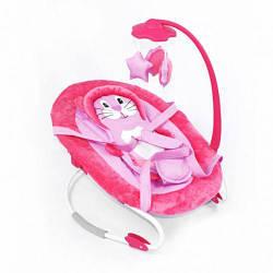 Детский шезлонг-качалка (розовый)  scf