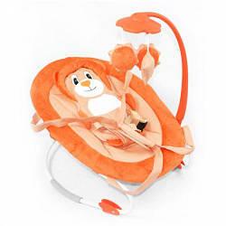 Детский шезлонг-качалка (оранжевый)  scf
