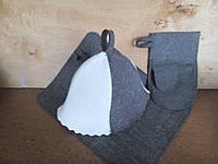 "Набор банный шапка, коврик, рукавица ""Комби""V3"