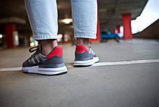 Мужские кроссовки Adidas ZX 500 RM Grey Four/ Ftw White/ Scarlet ( Реплика ) 44 размер, фото 2