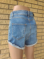 Шорты женские джинсовые коттоновые с высокой посадкой AROX, Турция, фото 3