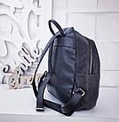Женский рюкзак черного цвета, полиэстер+люрекс+напыление+эко-кожа, под бренд, фото 3